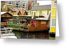 Float Home Fishermans Wharf Greeting Card