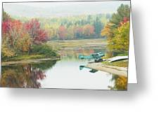 Float Plane On Pond Near Golden Road Maine Photo Poster Print Greeting Card