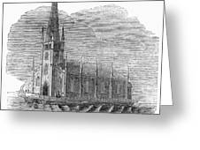 Floating Church, 1849 Greeting Card