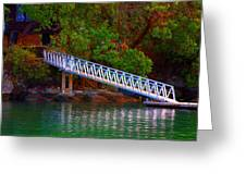 Floating Dock Greeting Card