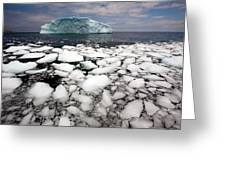 Floating Ice Shattered From Iceberg Greeting Card