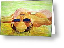 Floating In Water Greeting Card