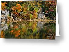 Floating Leaves In Tranquility Greeting Card