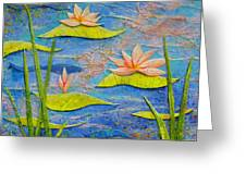 Floating Lilies Greeting Card