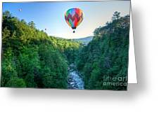 Floating Over Quechee Gorge Greeting Card
