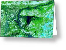 Flooding In Bangladesh Greeting Card by Nasa