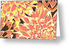 Floral Abstraction 18 Greeting Card