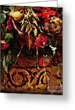 Floral Antique Greeting Card