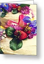 Floral Cake Greeting Card
