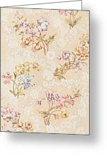 Floral Design With Peonies Lilies And Roses Greeting Card by Anna Maria Garthwaite