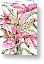 Floral Fourteen Greeting Card