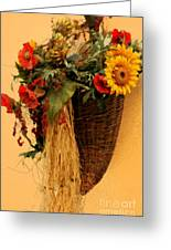 Floral Horn Of Plenty Greeting Card