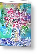 Floral Greeting Card by M C Sturman