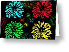 Floral Pop Art Greeting Card