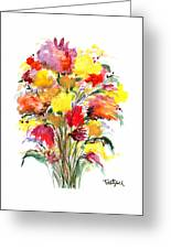 Floral Seven Greeting Card