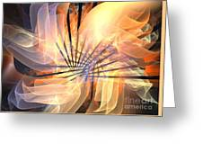 Floral Supernova Greeting Card