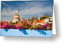 Floral View Greeting Card