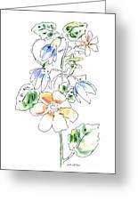 Floral Watercolor Paintings 4 Greeting Card