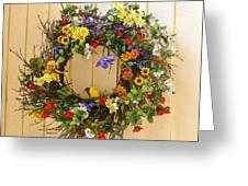 Floral Wreath Greeting Card