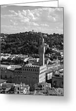 Florence - Black And White Greeting Card