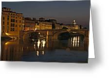 Florence - Ponte San Trinita Greeting Card