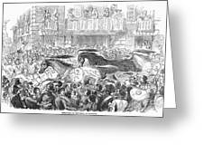 Florence: Horse Race, 1857 Greeting Card