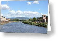 Florence Italy Arno River Greeting Card
