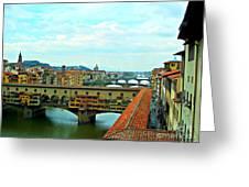 Florence Shopping Bridge Greeting Card