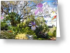 Florida Collage Greeting Card