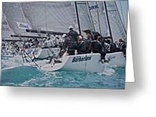 Florida Mid-winter Sailboat Racing Greeting Card