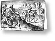 Florida: Storing Food, 1591 Greeting Card