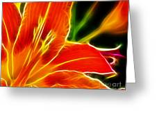 Flower - Lily 1 - Abstract Greeting Card
