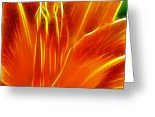 Flower - Orange - Abstract Greeting Card
