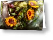 Flower - Sunflower - Gardeners Toolbox  Greeting Card