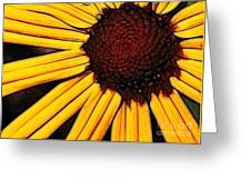 Flower - Yellow And Brown - Abstract Greeting Card