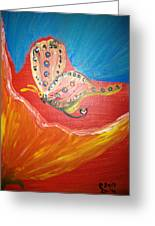 Flower And Butterfly Greeting Card by Pretchill Smith