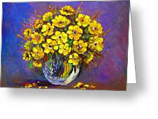Flower Are Yellow Greeting Card