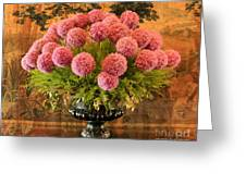 Flower Arrangement Chateau Chenonceau Greeting Card