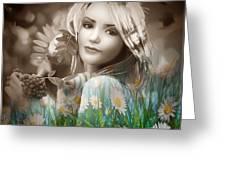 Flower Arround Me Greeting Card