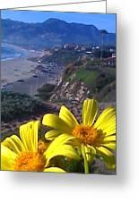 Flower Beach Greeting Card