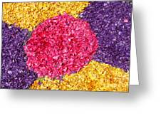 Flower Carpet Greeting Card