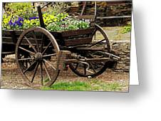 Flower Cart Greeting Card
