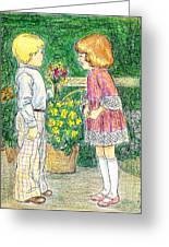 Flower Children Greeting Card