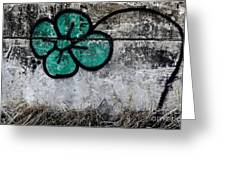 Flower On The Rocks Greeting Card