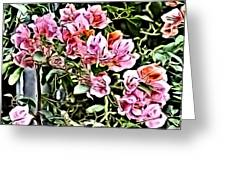 Flower Painting 0003 Greeting Card