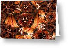 Flower Pattern In Sepia Greeting Card