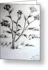 Flower Plant Greeting Card by Tanmay Singh