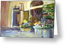 Flower Shop In Italy Greeting Card