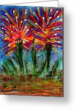 Flower Towers Greeting Card