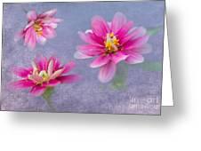 Flower Triplets Greeting Card